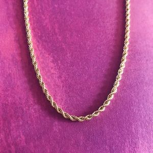 14k Gold 2mm Rope Chain